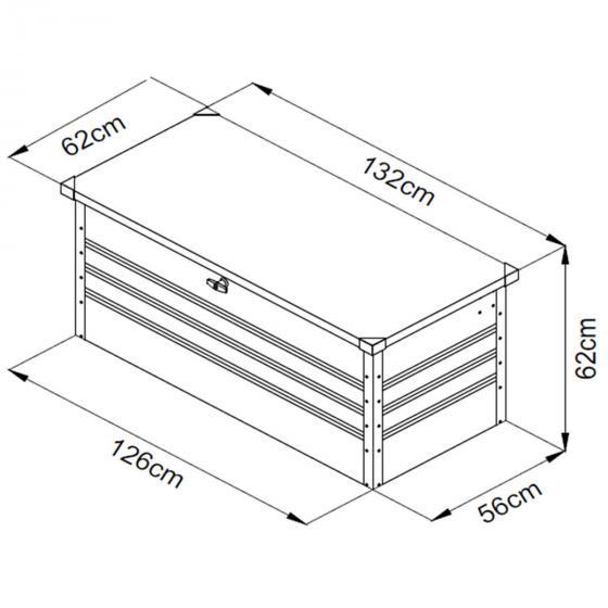 Metallaufbewahrungsbox Mega XL | #7