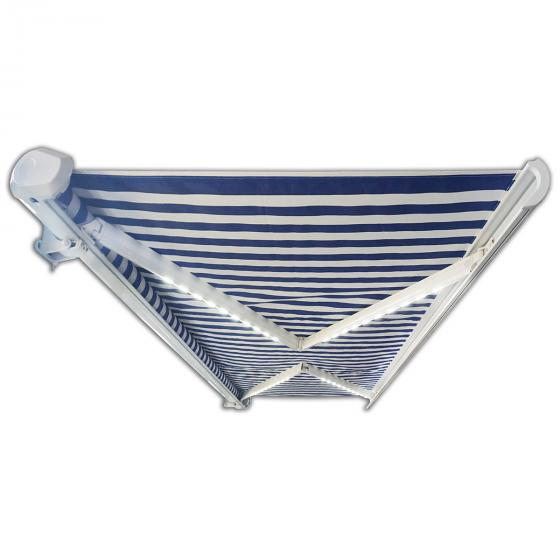 Vollelektrische Kassettenmarkise Elos V2 marineblau-weiß 500 x 300 cm inkl. Windsensor | #7