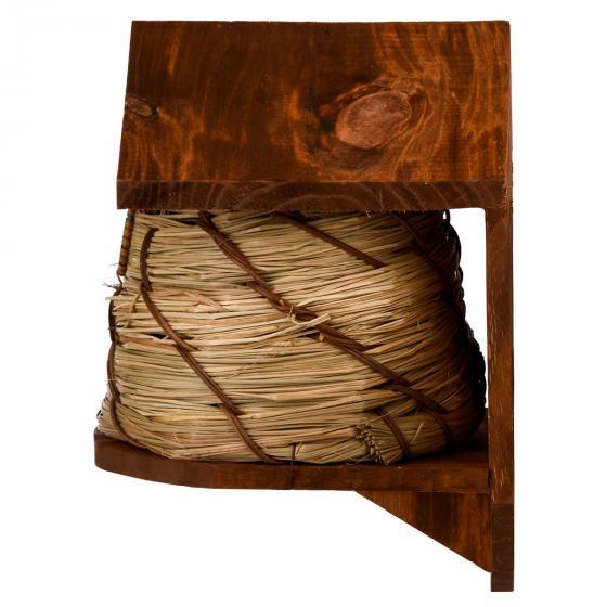Nistkasten im Bienenkorbdesign, Kiefernholz, ca. 19 x 20 x 25 cm | #7