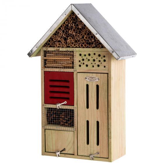 Insektenhotel Nature mit Zinkdach, ca. 48x 31 cm   #7