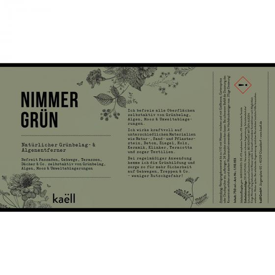 Natürliches Grünbelag- und Algenentferner-Konzentrat Nimmergrün, 750 ml | #7