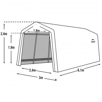 ShelterLogic Garage-in-a-Box 18,3m² inkl. Sturmanker | #8