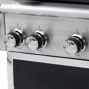 Gasgrill Manhatten, 4-Brenner, Seitenkocher, Horizontalbrenner | #8