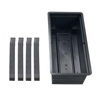 GARANTIA URBAN Balkon-Hochbeet inkl. Anzuchthaube, Kunststoff, schwarz/transparent, 75x37x87 cm | #8