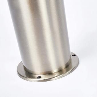 Solar-LED-Sockelleuchte Kalypso mit Bewegungsmelder, 50x7,8x7,8 cm, Edelstahl, silber | #8
