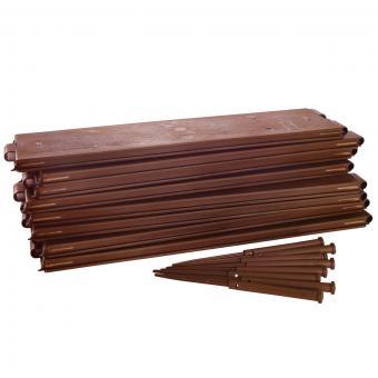 Hochbeet Vario, 3-er Set, je 8 Platten mit Steckverbindung, je Platte 54,5x14 cm, aus Kunststoff | #8