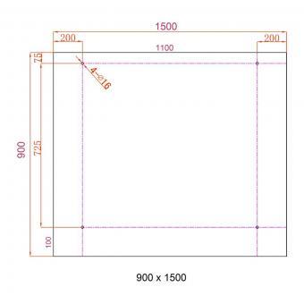 Glasvordach 150 x 90 cm | #8