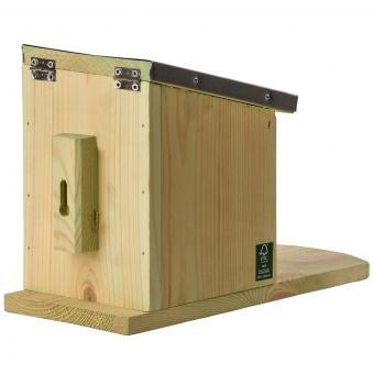 Eichhörnchen Futterhaus, mit Zinkdach und Plexiglasscheibe | #8