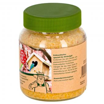 Erdnuss-Butter mit Nüssen, für Wildvögel, im Glas, 340 g | #8