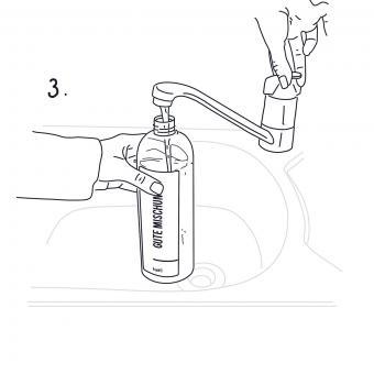 Mischflasche Gute Mischung Garten für Konzentrate, mit Sprühkopf, 750 ml | #8