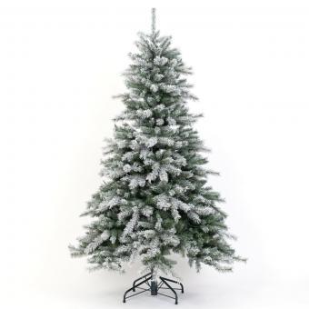 Künstlicher Weihnachtsbaum Fichte, Schneeoptik, mit LED-Beleuchtung, 210 cm   #8