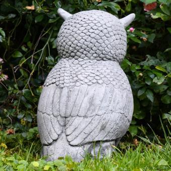 Gartenfigur Steineule, Antik - Steinguss, frostsicher | #8