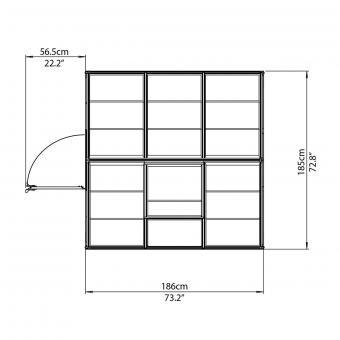 Gewächshaus Silver Line 6 x 6 inkl. Stahlfundament, 185 x 185 x 209 cm, Aluminium, silber | #8