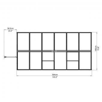 Gewächshaus Multi Line 6 x 12 inkl. Stahlfundament | #8
