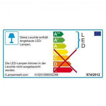 Solar-LED-Leuchte Tanis, 8,5x8,9x8,9 cm, Edelstahl, silber | #9