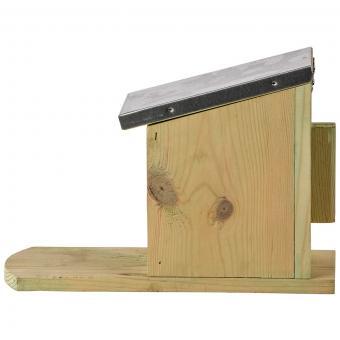 Eichhörnchen Futterhaus, mit Zinkdach und Plexiglasscheibe | #9