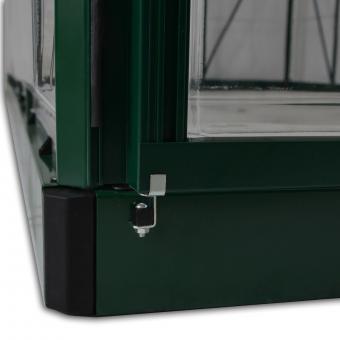Gewächshaus Green Line 6 x 8 inkl. Stahlfundament, 246 x 185 x 209 cm, Alumium, grün | #9