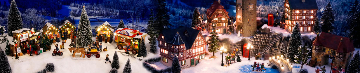 Miniatur-Weihnachtsdorf