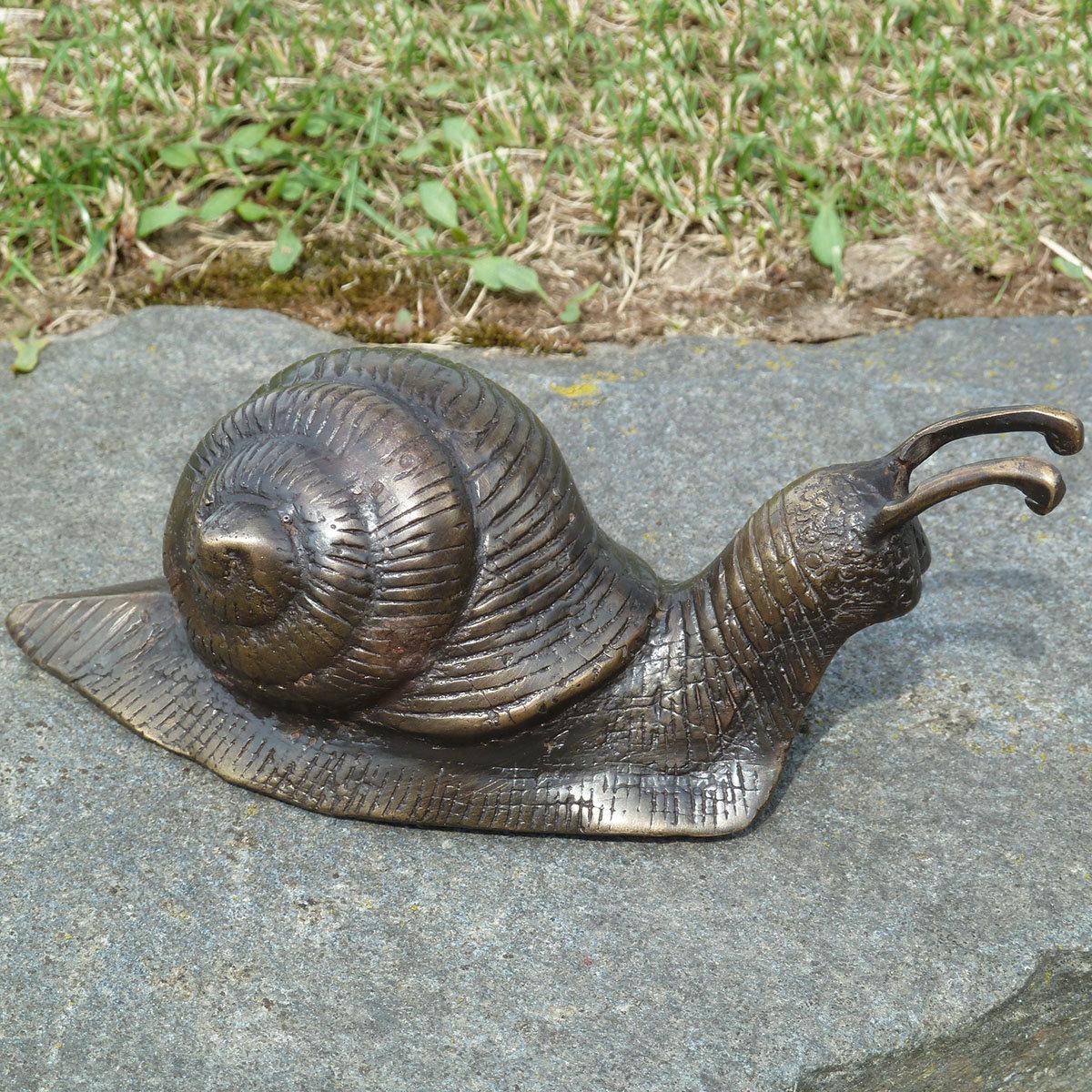 Bronze-Figur Schnecke Elba, klein