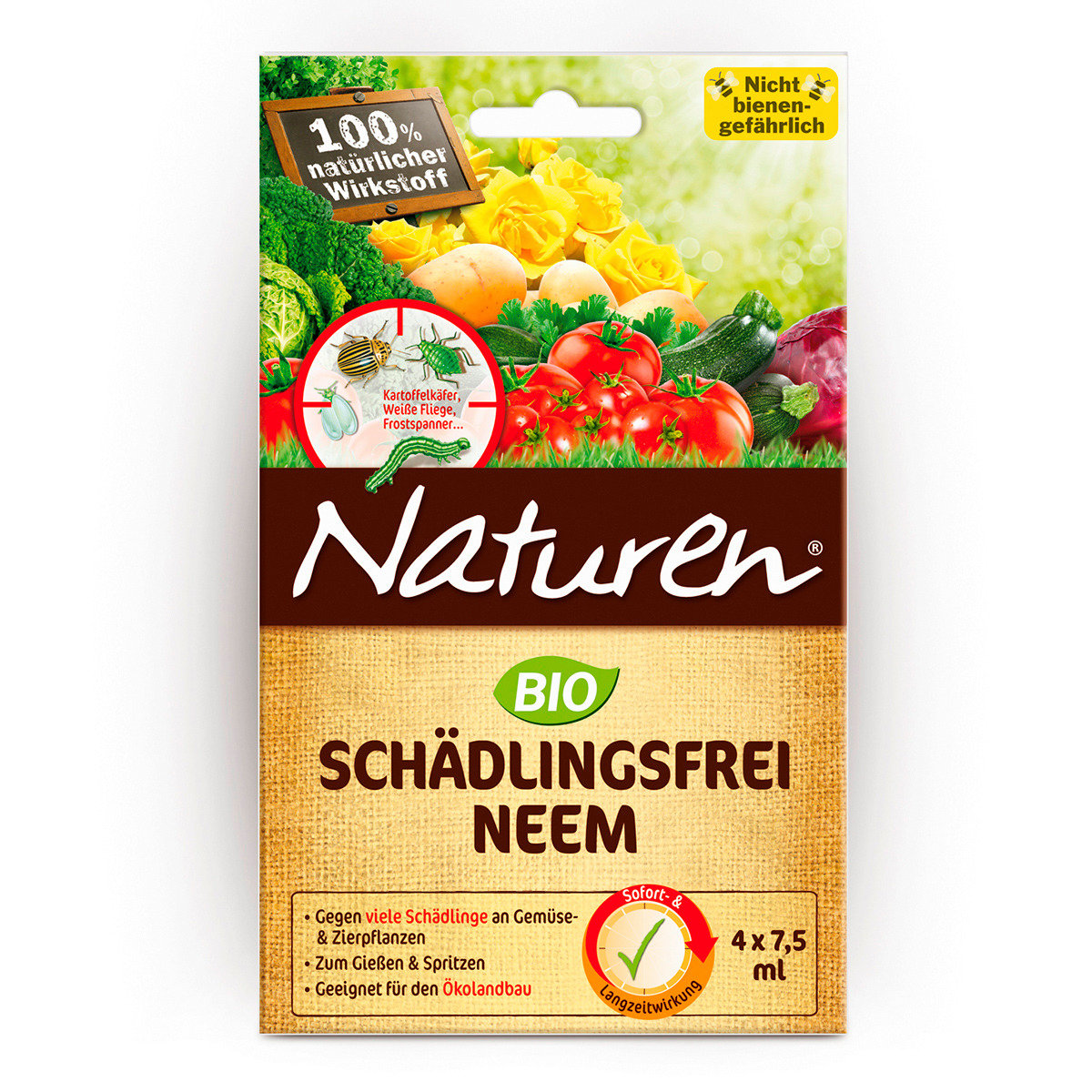 Naturen Bio Schädlingsfrei Neem, 4 x 7,5 g