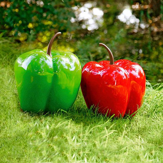 Gartendeko Riesen-Paprika Durchmesser 36 cm grün
