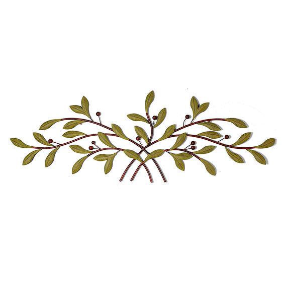 Wanddekoration Olivenzweig