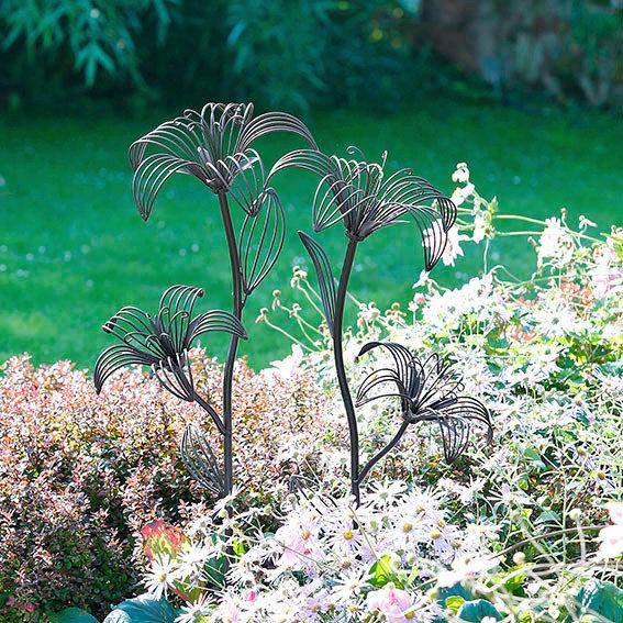 Blumen-Stecker Black Lilies