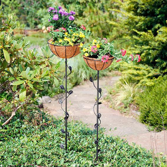 Standkörbe Blumenglück, 2er-Set, inkl. Pflanzeinsätze