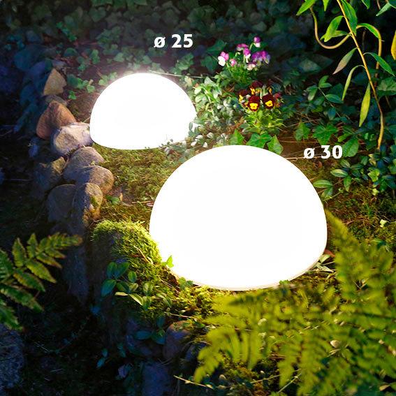 Solar-LED-Halbkugel Moon, Durchmesser 25 cm