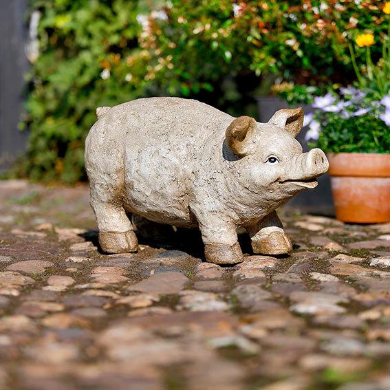 Gartenfigur Schwein Karlchen