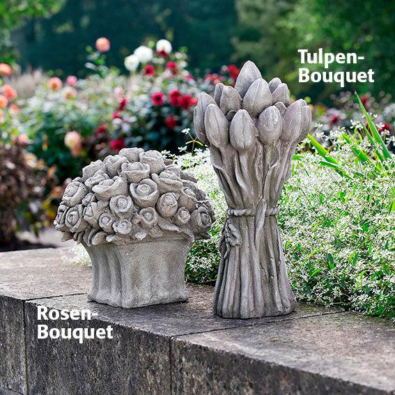 steinguss deko tulpen bouquet von g rtner p tschke. Black Bedroom Furniture Sets. Home Design Ideas