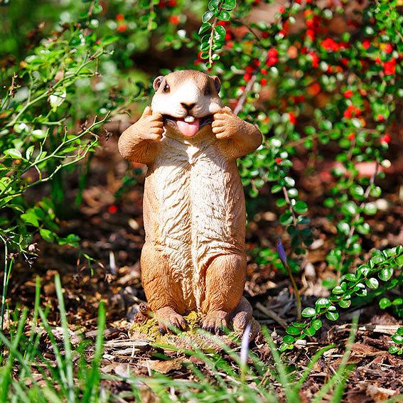 Gartenfigur Murmeltier Mickey