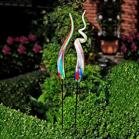 Glaskunst stecker allegro 2er set inkl eisenst be von for Gartendeko neuheiten