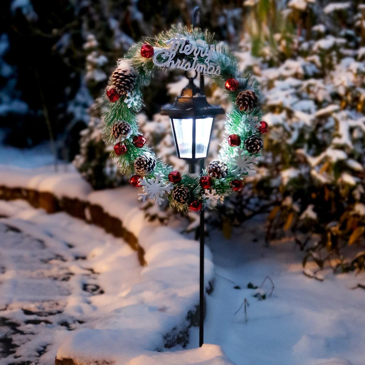 Solar-LED-Gartenstecker Winter Welcome