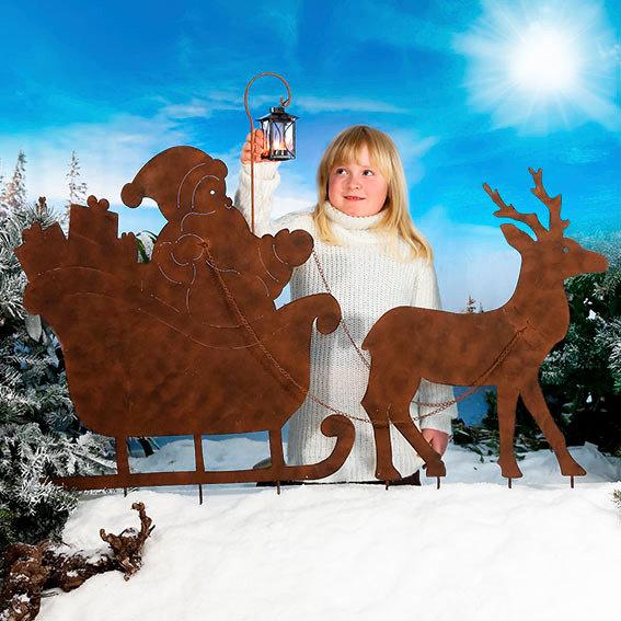 Weihnachtsmann auf Schlittenfahrt