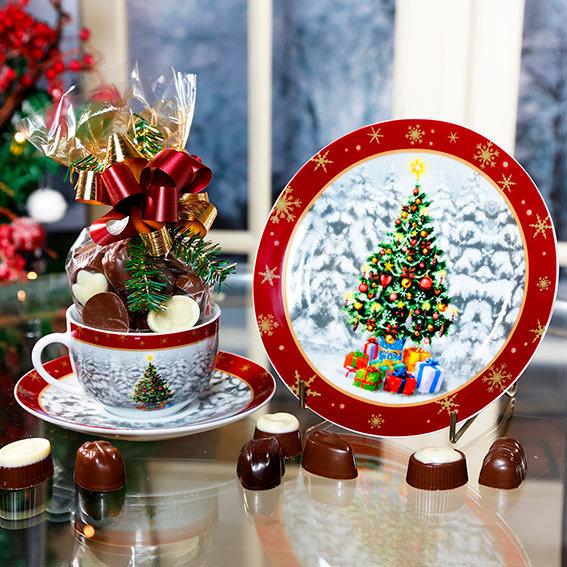 Weihnachtsgedeck Winterwelt, 3tlg.