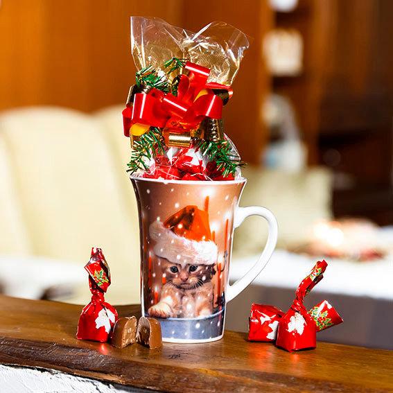 Kaffeebecher Weihnachtskätzchen