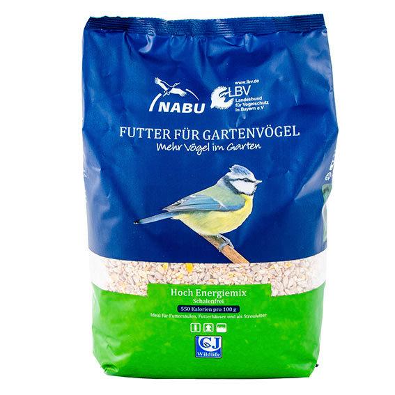 Vogelfutter Hoch-Energie-Mix - schalenfrei, 2kg
