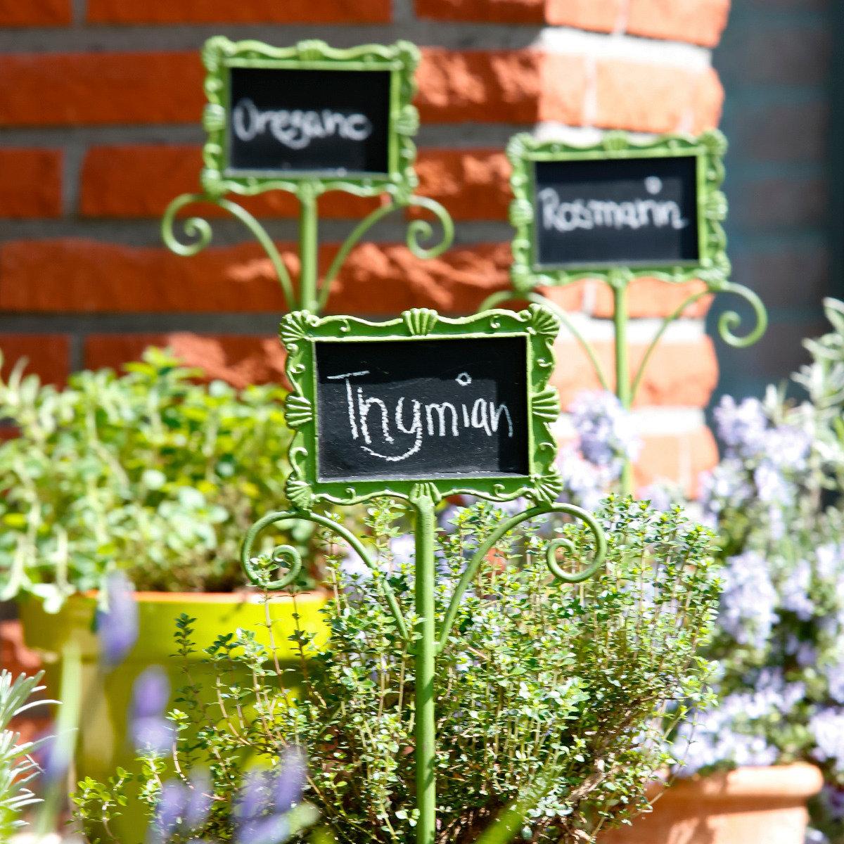 Gartenstecker Schreibtafel