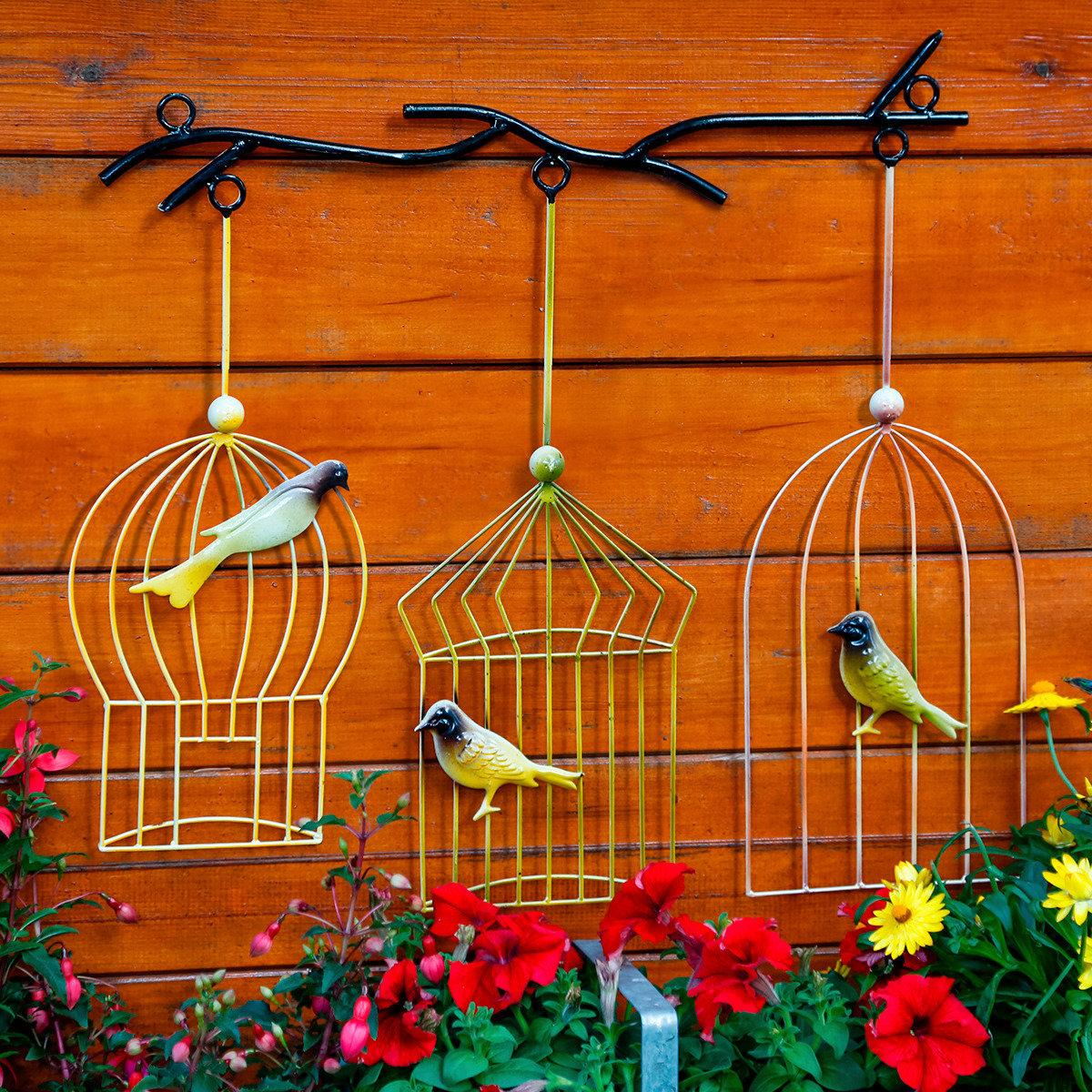 Wanddekoration Vogelkäfige