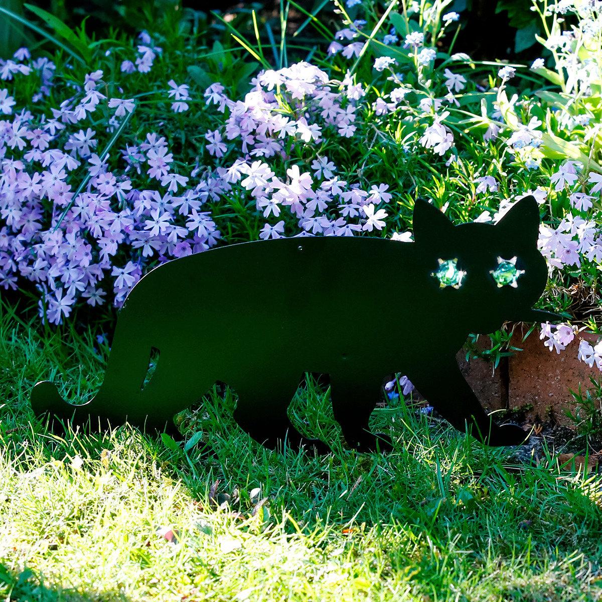 Gartendekostecker Katze stehend