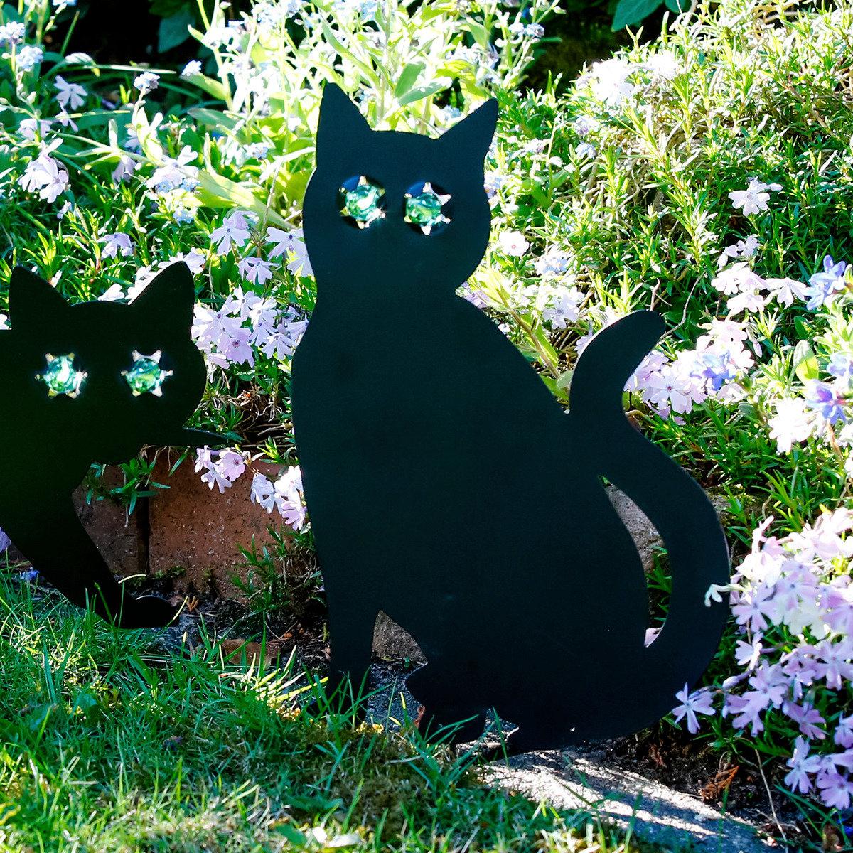 Gartendekorationsstecker Katze sitzend