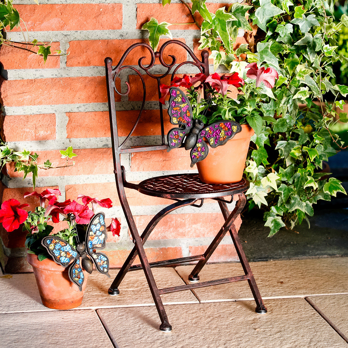 Blumenstuhl aus Eisen