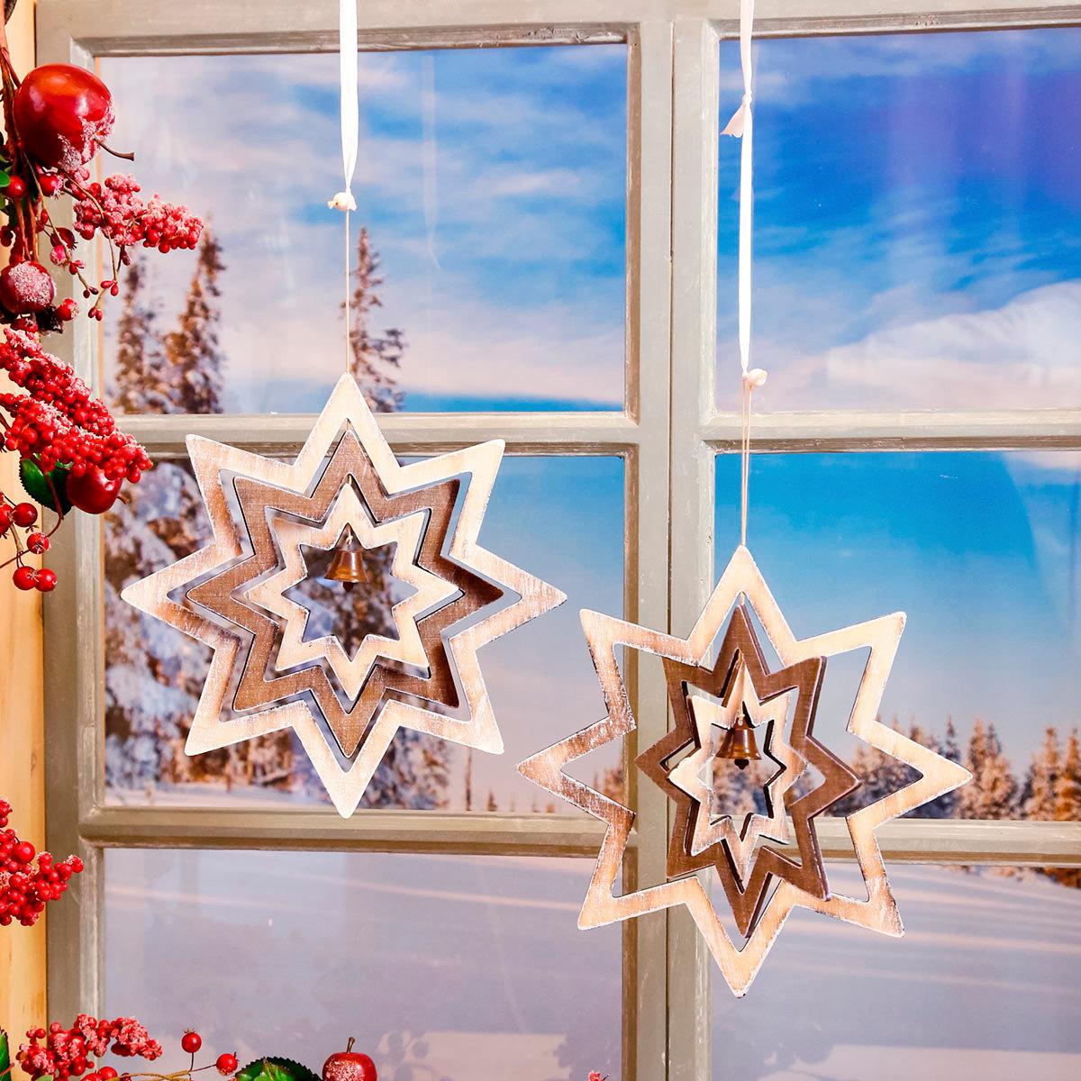 Fensterdeko Sternenzauber, 2er-Set