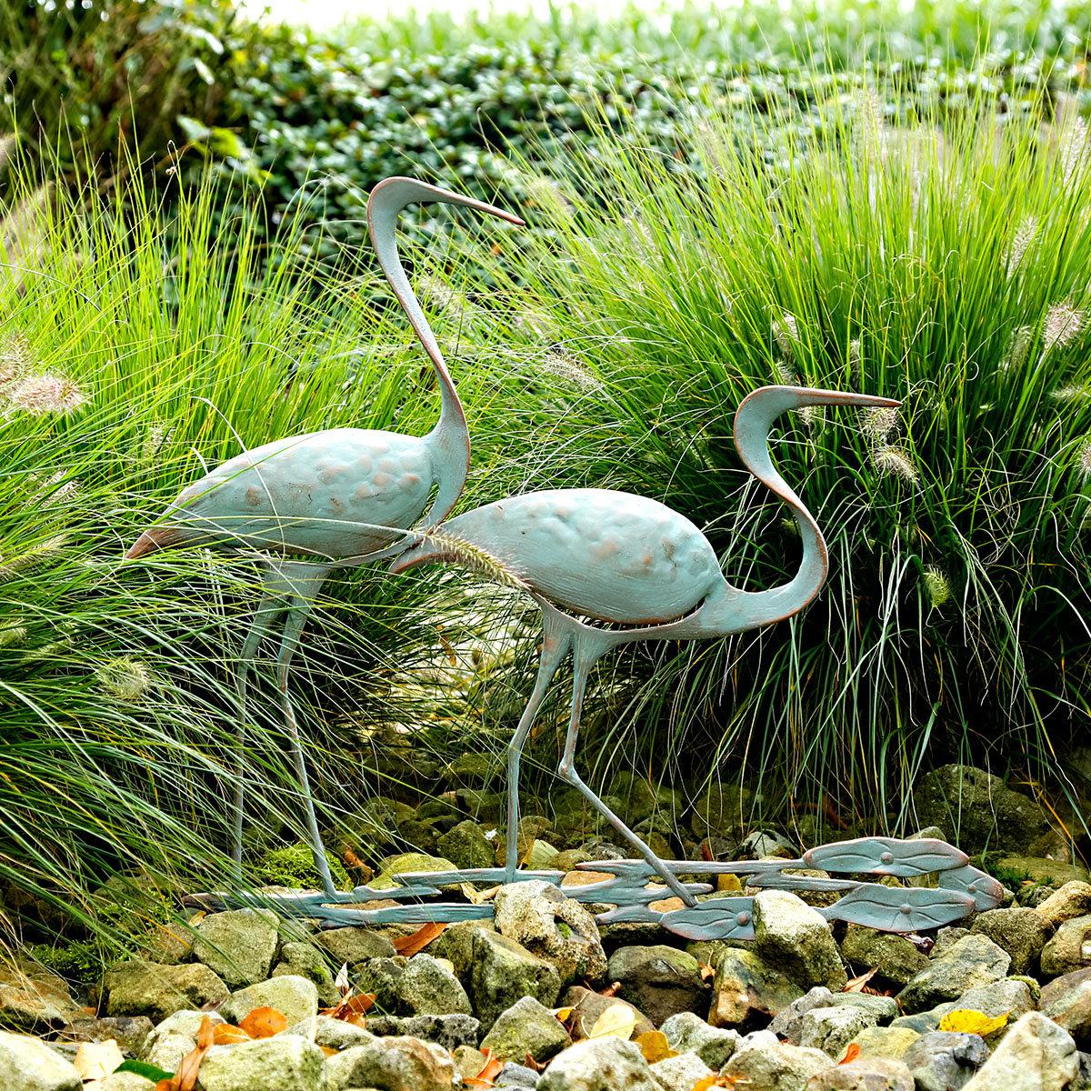 Gartenstecker storchenpaar von g rtner p tschke for Gartendeko neuheiten