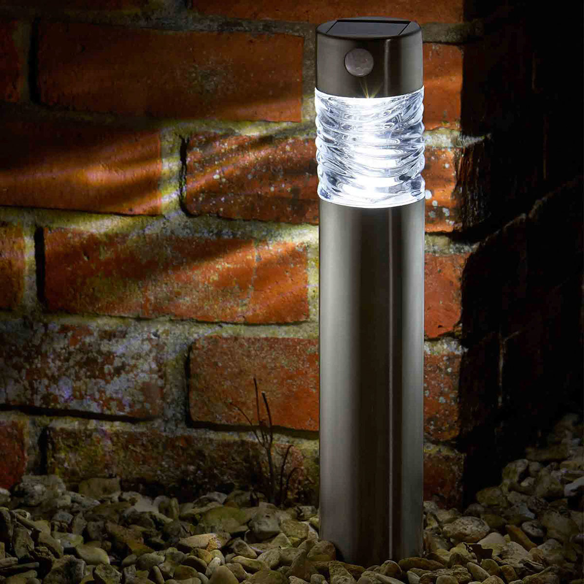 LED-Solar-Leuchte Vertico, 2er-Set