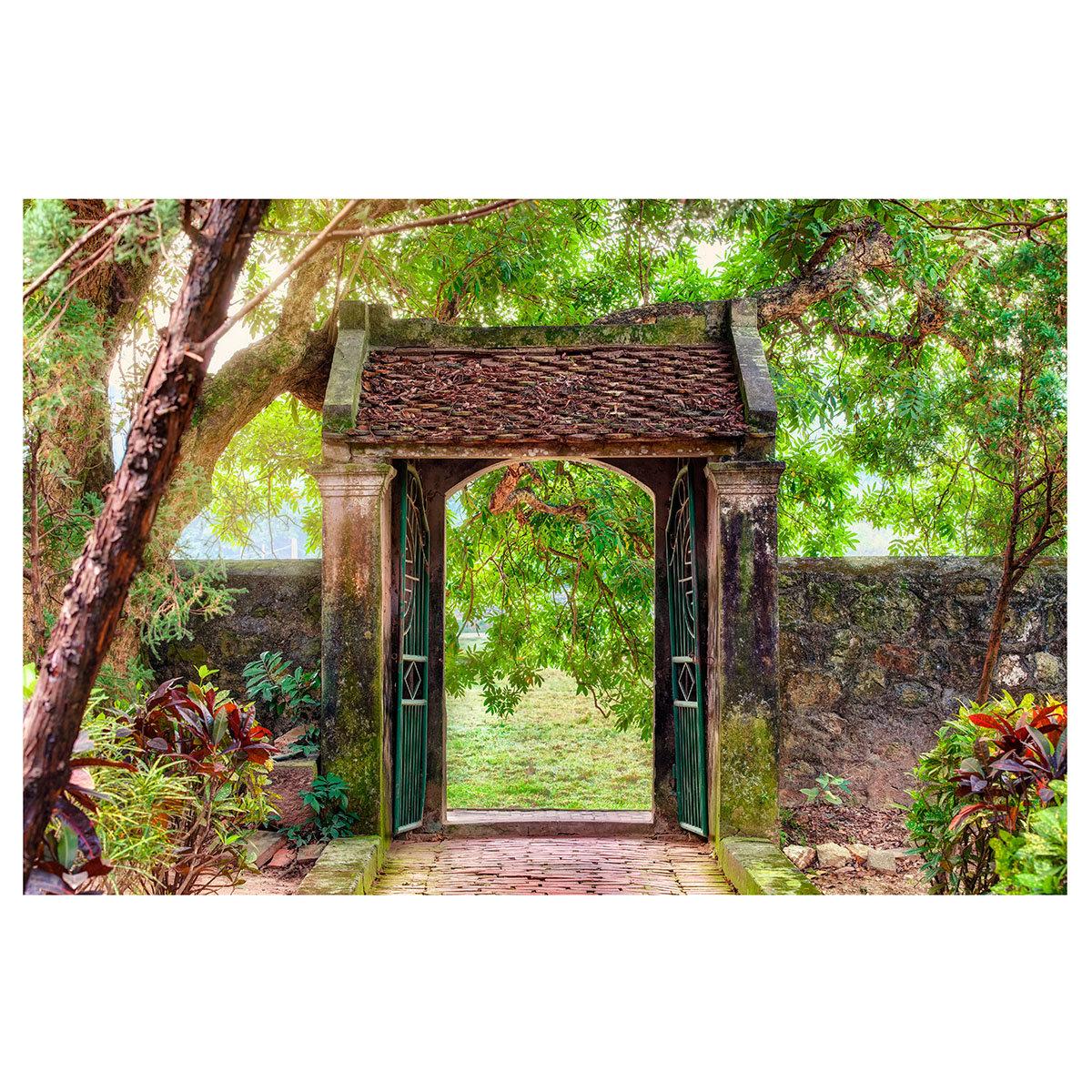Gartenposter Pforte 210 x 150 cm