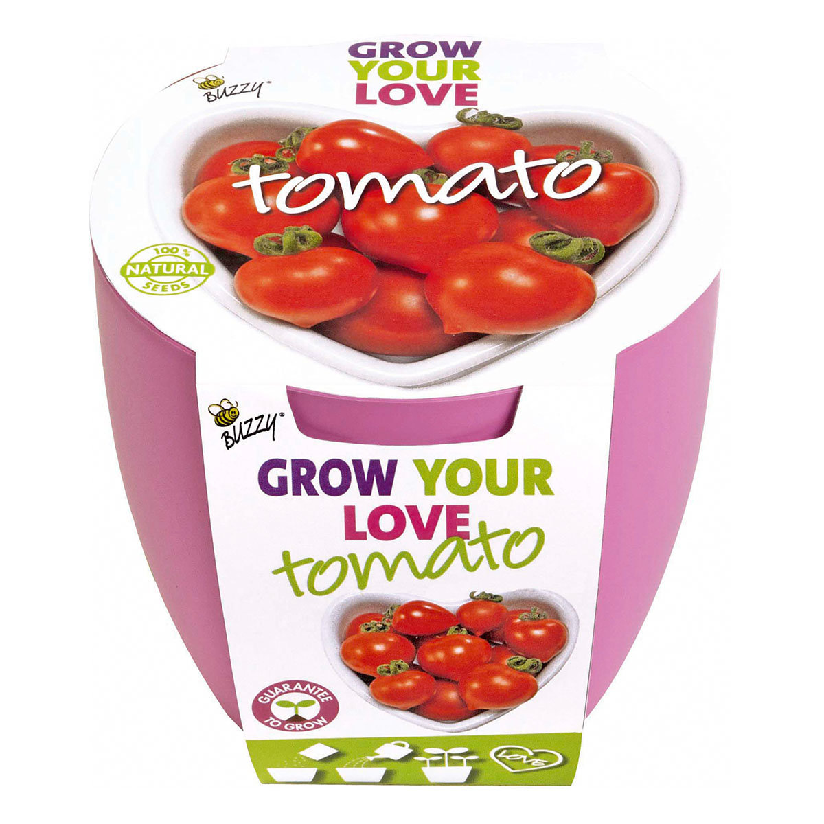 Topf-Set Herz-Tomate Grow Your Love