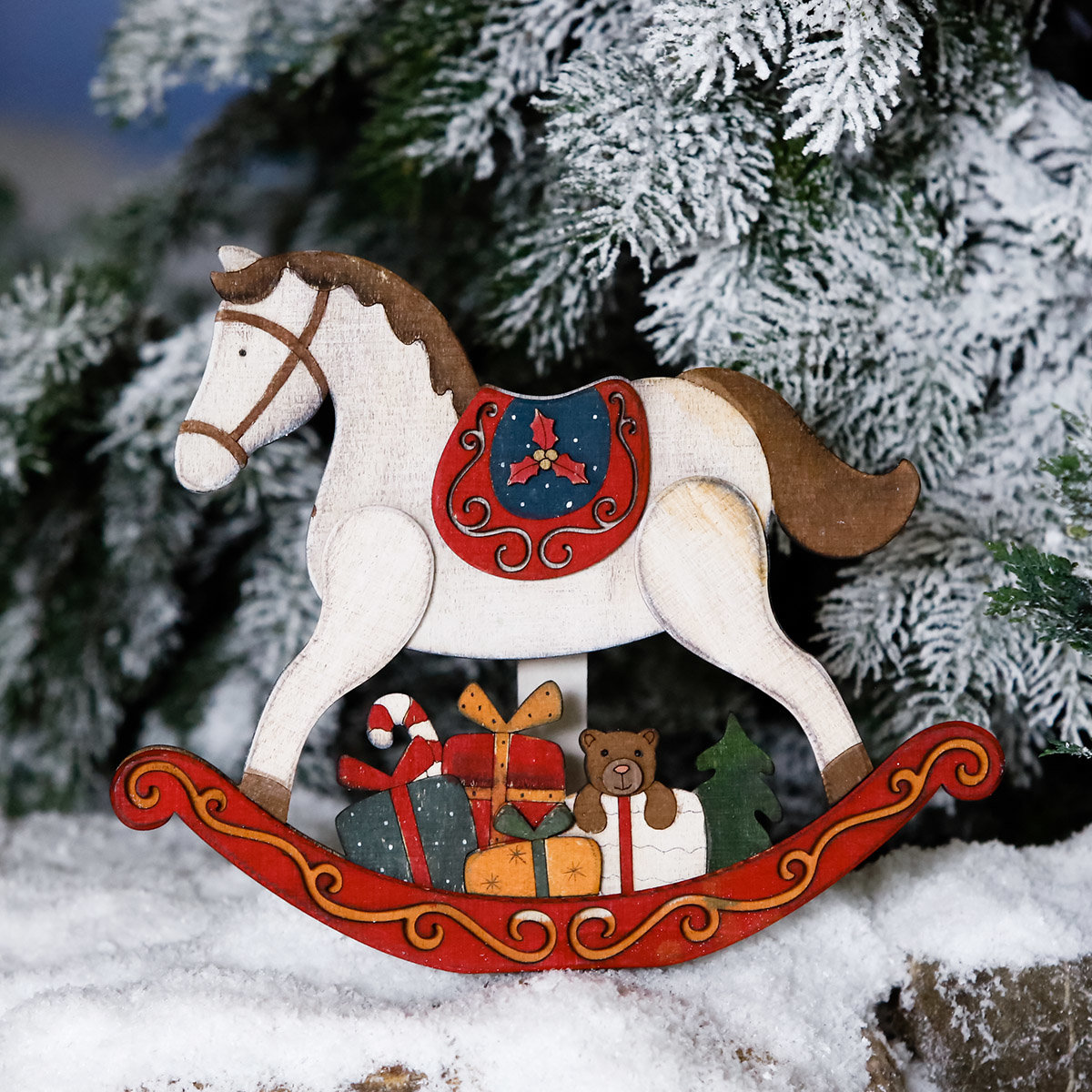 Schaukelpferd Christmas Time