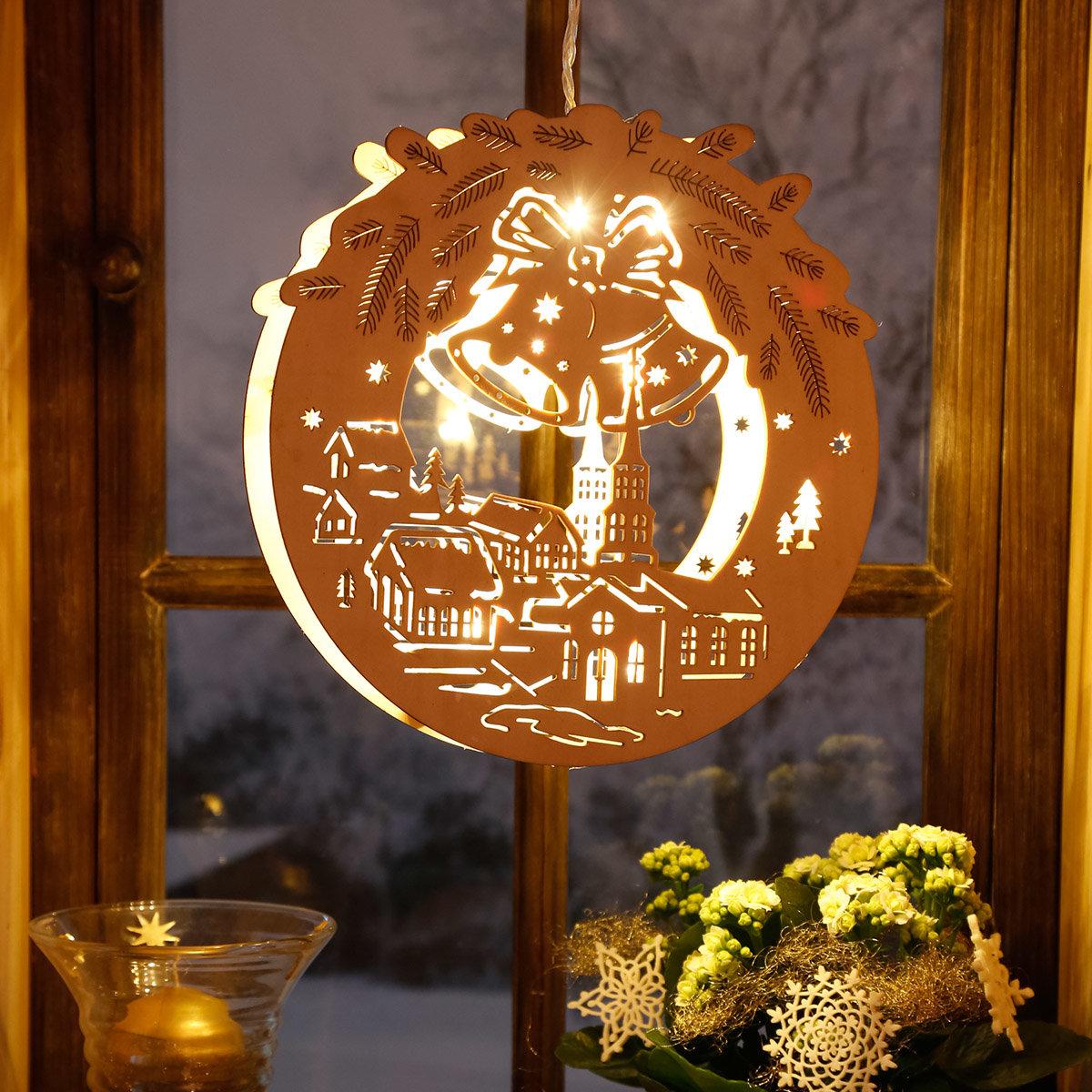 LED-Fensterdeko Alpenwinter